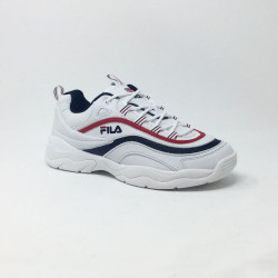 FILA RAY LOW BLANC/MARINE/ROUGE