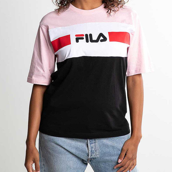FILA WOMEN SHANNON T-SHIRT NOIR/ROSE