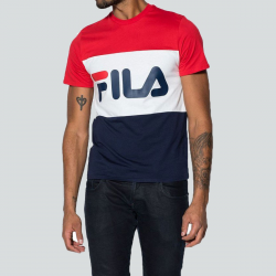 FILA MEN DAY T-SHIRT MARINE/ROUGE