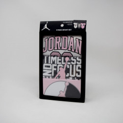 NIKE JORDAN PACK 3 PIECES GRIS/ROSE