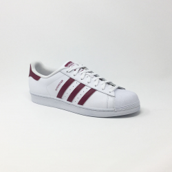 ADIDAS SUPERSTAR  BLANC/BORDEAUX