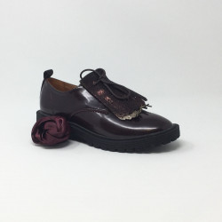ARMISTICE ROCK DERBY PATENT  BORDEAUX