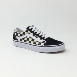 VANS OLD SKOOL PRIMARY CHECK NOIR/BLANC