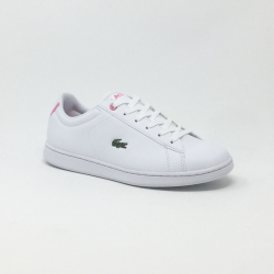 LACOSTE CARNABY EVO BLANC/ROSE