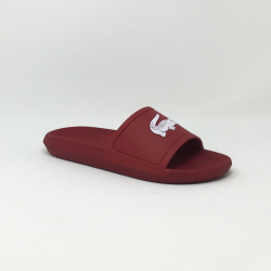 LACOSTE CROCO SLIDE ROUGE/BLANC