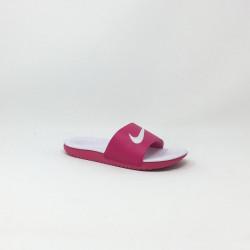 NIKE KAWA SLIDE ROSE/BLANC