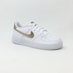 NIKE AIR FORCE 1 BLANC/BRONZE