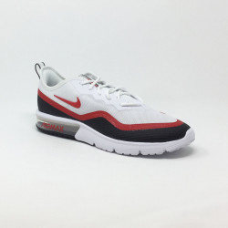 NIKE AIR MAX SEQUENT 4.5 BLANC/ROUGE