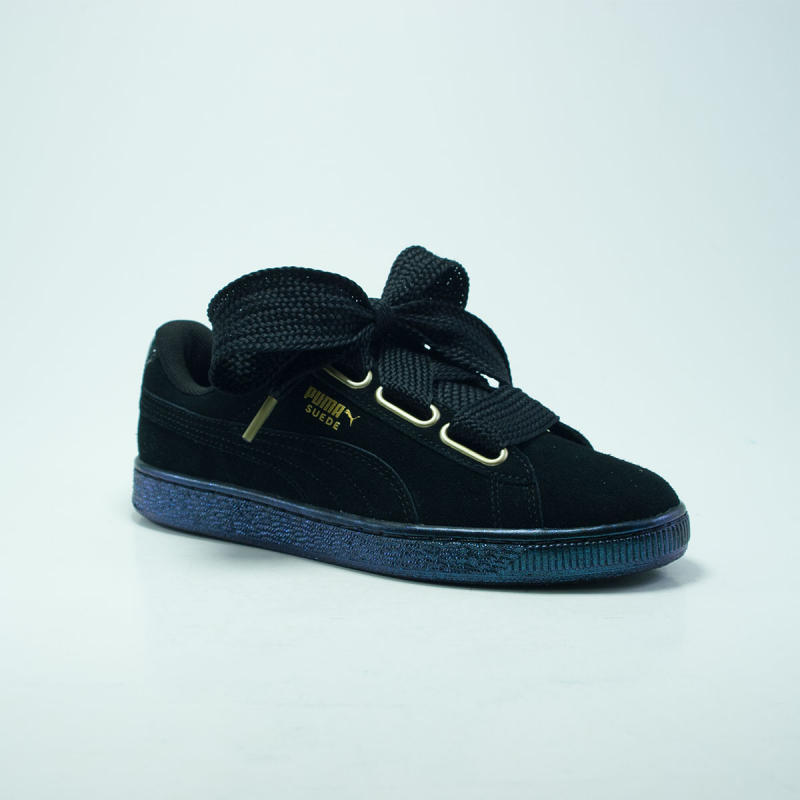 puma heart noir satin