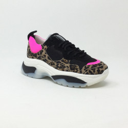 SMR 23 BASKET SNEAKERS V14 LEOPARD/ROSE