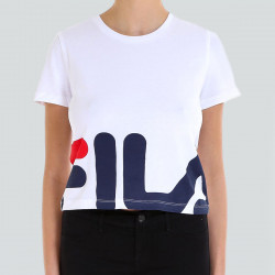 FILA WOMEN EARLY CROPPED TEE BLANC