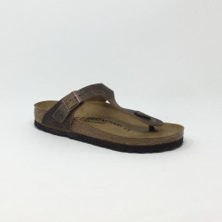 BIRK GIZEH CUIR NAT. TABACCO BROWN