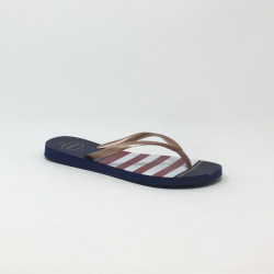 HAVAIANAS SLIM NAUTICAL MARINE/ROUGE