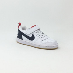 NIKE COURT BOROUGH BLANC/MARINE