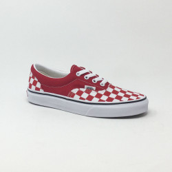 VAN'S ERA CHECKERBOARD ROUGE/BLANC