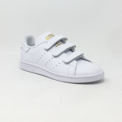 ADIDAS STAN SMITH VELCRO BLANC/OR