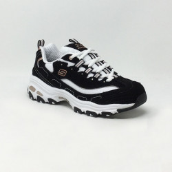 SKECHERS D'LITES SURE THING NOIR/BLANC