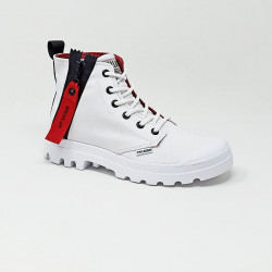 PALLADIUM PAMPA UNZIPPED BLANC