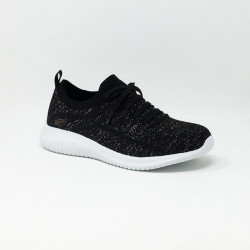 SKECHERS ULTRA FLEX NOIR/BLANC