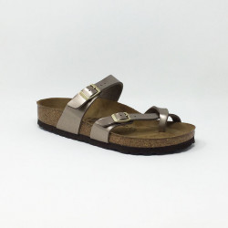 BIRK MAYARI ELECTRIC METALLIC TAUPE