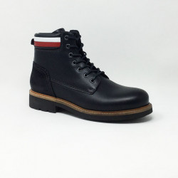 TOMMY HILFIGER LEATHER BOOT MARINE