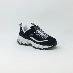 SKECHERS D'LITES CROWD APPEAL NOIR/BLANC
