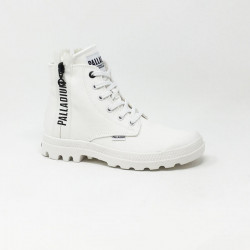 PALLADIUM PAMPA 2 BACK ZIP STAR WHITE