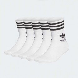 ADIDAS CHAUSSETTES 5 PAIRES BLANC