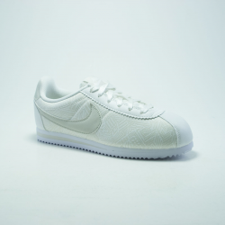 NIKE CORTEZ GS LEATHER BLANC