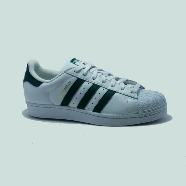 superstar blanc vert