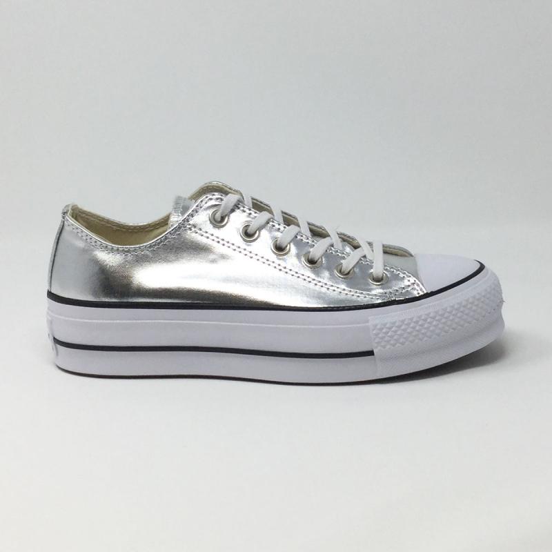 converse lift silver