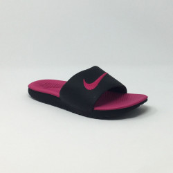 NIKE KAWA SLIDE GS NOIR/ROSE