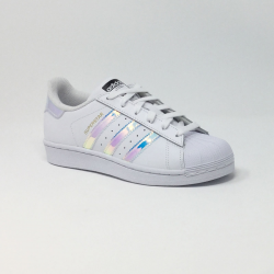 ADIDAS SUPERSTAR J BLANC/MIRROIR