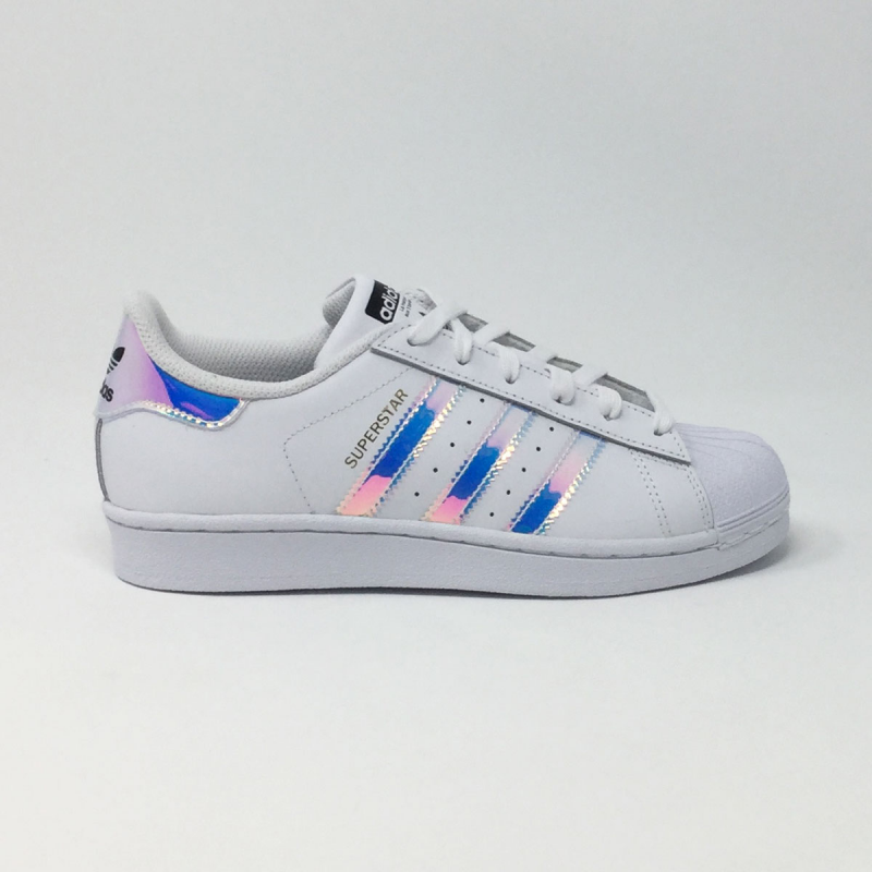 ... ADIDAS SUPERSTAR J BLANC/MIRROIR ...