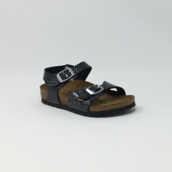 BIRK RIO MAGIC SNAKE NOIR/SILVER