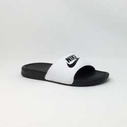 NIKE BENASSI JUST DO IT BLANC/NOIR