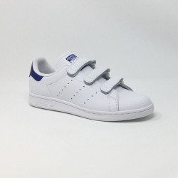 ADIDAS STAN SMITH VELCRO BLANC/BLEU