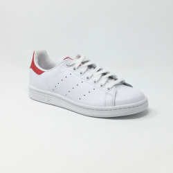 ADIDAS STAN SMITH BLANC/ROUGE