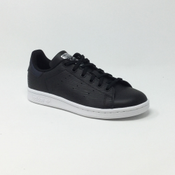 ADIDAS STAN SMITH J NOIR/VIOLET