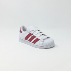 ADIDAS SUPERSTAR C BLANC/ROSE