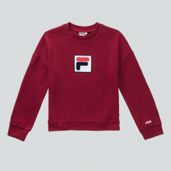 FILA WOMEN ERIKA 2.0 CREW SWEAT BORDEAUX